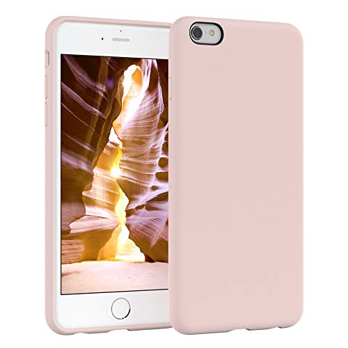 EAZY CASE Premium Silikon Handyhülle kompatibel mit Apple iPhone 6 / 6S, Slimcover mit Kameraschutz und Innenfutter, Silikonhülle, Schutzhülle, Bumper, Handy Case, Hülle, Softcase, Altrosa, Rosa