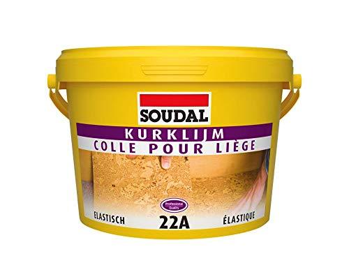 Soudal 22A Kork Kleber 5Kg -> für Korkplatten und Korkbahnen an Wand + Boden, geeignet für Fußbodenheizung