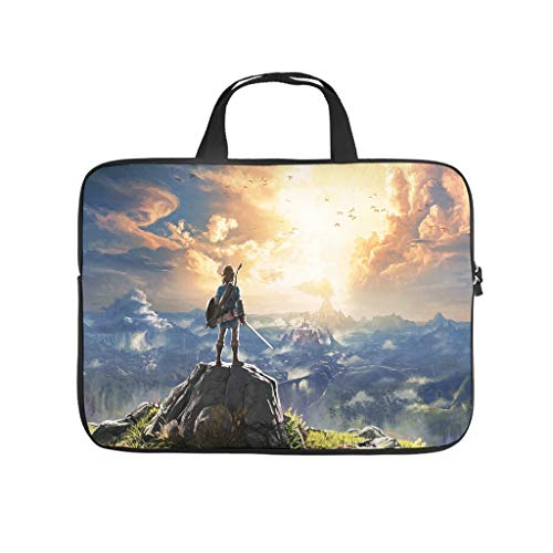 Zelda Wild Laptop Computer And Tablet Carrying Case Bag Waterproof Portable Handbag For Business&Travel Multi-functional For Men And Women white 15 zoll