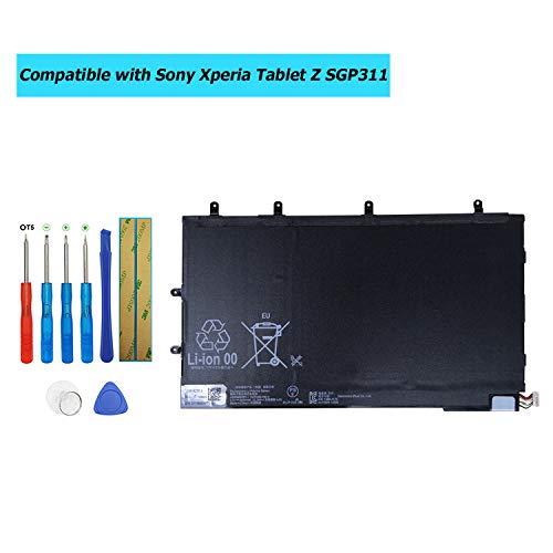 Upplus LIS3096ERPC Vervangende batterij compatibel voor Sony Xperia Tablet Z SGP311 SGP312 SGP321 SGP341 SGP351 Series met Toolkit