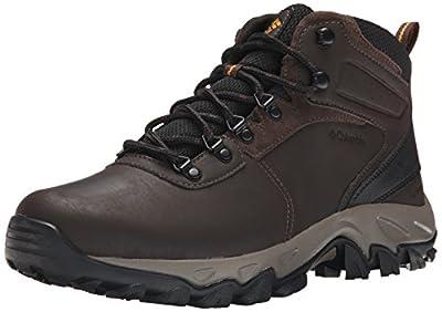 Columbia mens Newton Ridge Plus Ii Waterproof Hiking Boot, Cordovan/Squash, 11.5 Wide US