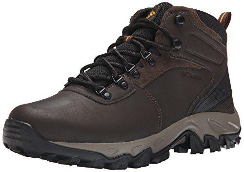 Columbia mens Newton Ridge Plus Ii Waterproof Hiking Boot, Cordovan/Squash, 11.5 US