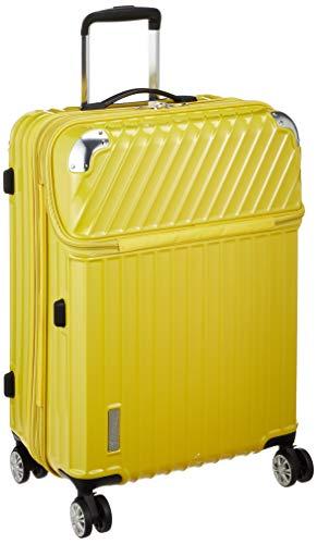 [トラベリスト] スーツケース ジッパー トップオープン モーメント 拡張機能付き 61L 64 cm 4.3kg イエローカーボン