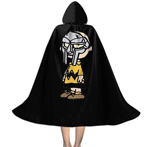 WEIPING Capa con Capucha para nios Capa Charlie Brown MF Doom Capa para nios para Halloween