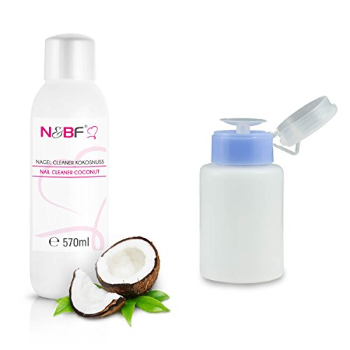 N & BF ongles Cleaner Kit avec 570 ml + Parfum Distributeur Bouteille 150 ml – 70% isopropanol Pompe de alcool – – Ongles ongles pour ongles gel nettoyant – kosmetisch Pure en qualité studio pour le nettoyage et le dégraissage