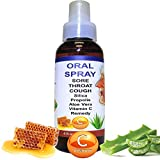 Oral Spray $12.99 Silica, Eucalyptus, Vitamin C, Bee Propolis & Aloe Vera Natural Remedy for Sore Throat & Cough by ALKAVITA