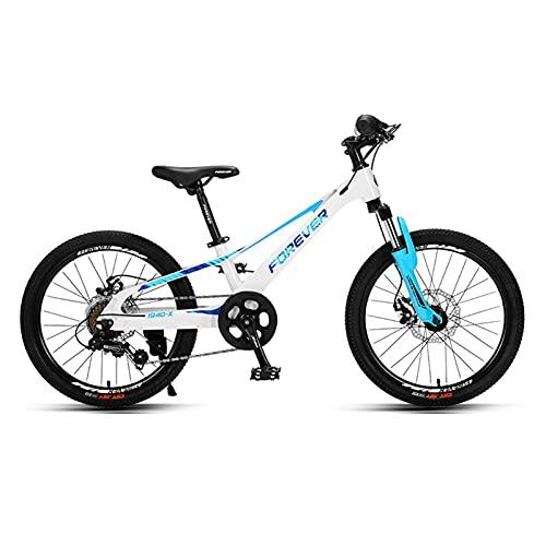 ZXQZ Bicicleta de Montaña de 20 '', Bicicleta de Confort para Niños, Marco de Aleación de Magnesio, Asiento Ajustable, Ideal para Adolescentes (Color : Blue)