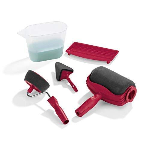 Easymaxx Paint Maxx PRO - Set per spalmare, 5 Pezzi, con Rullo per colorare, Rullo per Bordi, separatore Angoli, Ciotola di Colore e misurino