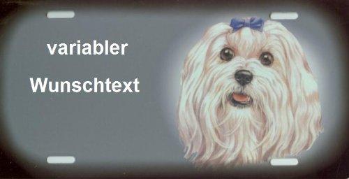 Hundeschilder Malteser selbst gestalten und Bedrucken ✓ Hundewarnschilder ✓ Hinweisschild ✓ Verbotsschild