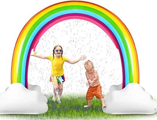 68inch Rainbow Sprinkler Toys, Juguete de agua de aerosol for piscinas inflables al aire libre, juguete de agua familiar for jardín exterior for niños pequeños, niños, niñas de 3 años en adelante