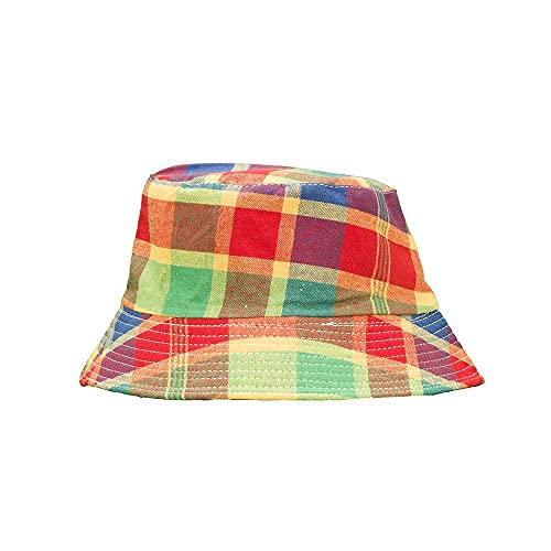 Diiya Sombrero Parasol A Cuadros Sombrero Bloqueador Solar Sombrero De Lavabo Face Show Little Summer Joker Plaid Sombrero De Pescador Plegable Sombrero De Estudiante Sombrero De Otoño Picture 4