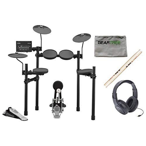 Yamaha DTX432K Electronic Drum Set w/Headphones, Sticks, and Cloth