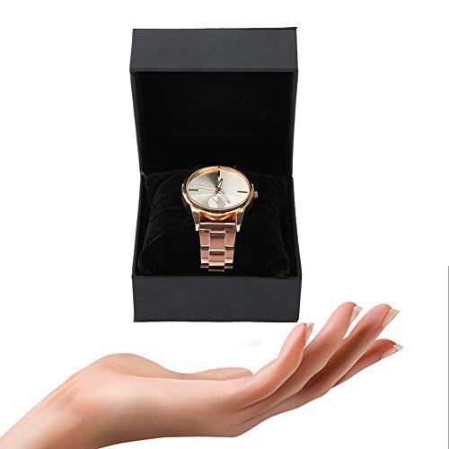 Elegante Uhrenbox,Schmuckhalter Geschenkbox Uhrenhalter Etui Uhr, langlebig und wasserdicht, mit einem weichen Kissen,meisten Typen von Armbanduhren geeignet