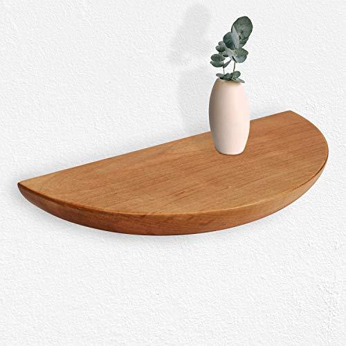 VONSALEN Wandregal Holz, Birke massiv 28 x 14 x 4.5 cm Planzen-Wandregal, Schweberegal, Küche Wandregal
