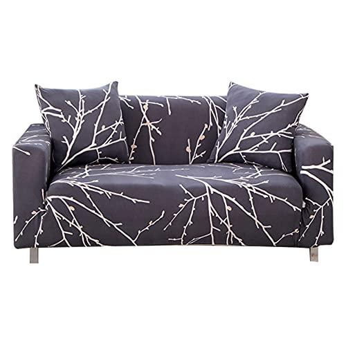 EENZER Funda de Sofa Elasticas 1 2 3 4 Plazas,Universal Fantasía Cubre Sofas Ajustables,Árbol Rama,1 Plaza / 90-130cm