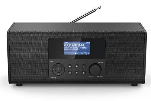 Hama 00054873 54873 DIR3020 Internet Tischradio DAB+, UKW WLAN, Internetradio Schwarz, 12 V