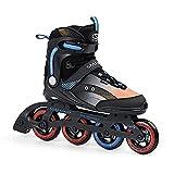 Patines en línea SMJ RX23 para hombre, ruedas de 90 mm/82 A, rodamientos ABEC7, para jóvenes y adultos, color negro (44)