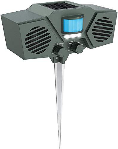 HXXXIN Nuovo Allarme Antifurto da Esterno Solare, Sicurezza da Campeggio, Allarme Antintrusione Animali, Repellente per Zanzare Ad Ultrasuoni, Essenziale per I Viaggi.