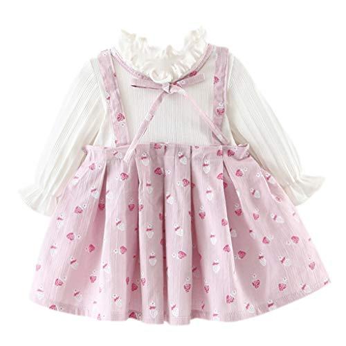 Robe de Bébés Filles, Binggong Été Enfants Fille Vintage Robe Jupe Sangle Chemisier Impression par Points pour 6M-2 Ans