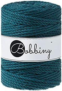 Bobbiny Ficelle à macramé Oeko-Tex Premium Coton Couleur Peacock Blue 5 mm x 100 m