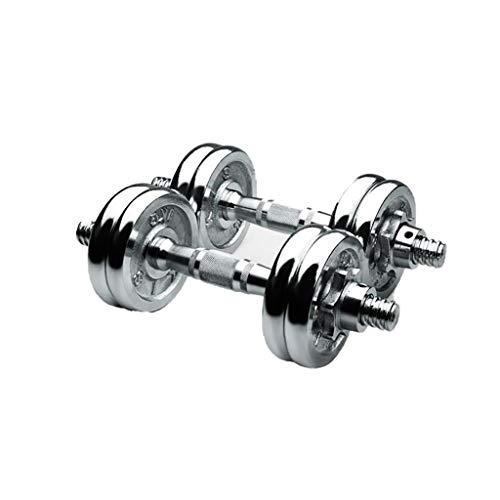 Juego de pesas de mano ajustables con varilla de conexión utilizada como mancuerna de acero sólido, par de mancuernas para hombres y mujeres (peso: 10 kg (5 kg x 2))