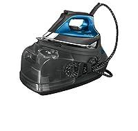 rowenta dg9160 silence steam pro ferro da stiro con caldaia silenziosa e ad 7.5 bar pressione, 2800 w, 1.1 litri, grigio e blu