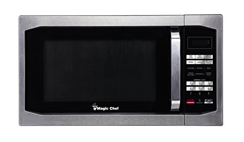 Magic Chef MCM1611ST 1100W Microwave Oven, 1.6 cu.ft, Stainless Steel