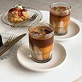 235 ml hecho a mano estilo coreano Ins taza de café taza de agua fría taza de batido vidrio helado Latte americano taza de soda beber chupito vidrio decoración (juego de 2 piezas)
