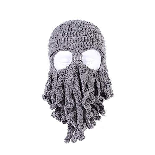Gorro para barba pasamontañas de punto de pulpo sombrero divertido hombres mujeres unisex invierno máscara de esquí cosplay Skullies Caps