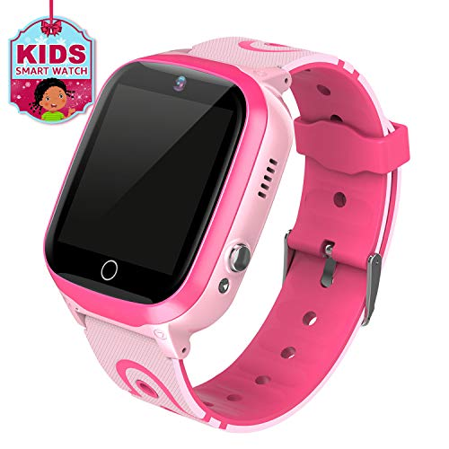 MeritSoar Kids Smart Watch Phone with GPS Tracker Smartwatch Voice Chat HD Touch Screen Camera Waterproof Kids Phone Watch Compatible with Android iOS for Boys Girls