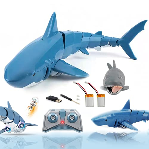 Remote Control Shark Toys Best Gift Pool Toys for Kids 3-12, +Battery Rechargeable Shark Toy for Swimming 2.4GHz RC Boat for 3-10 Year Old Boys and Girls
