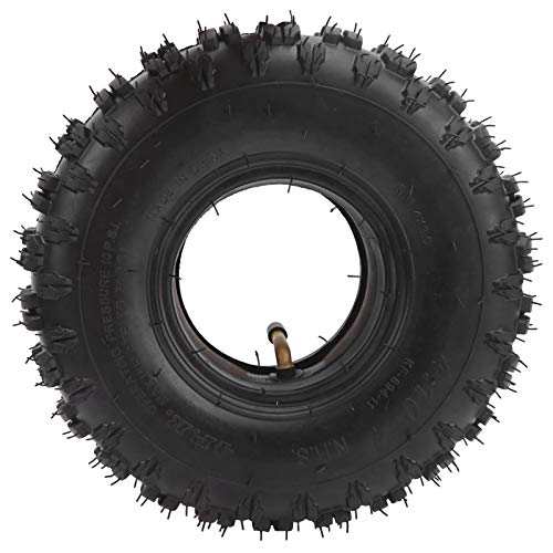 VGEBY Mobility Scooter Reifen, explosionsgeschützter Scooter Wheel Reifen Anti-Rutsch 4.10‑4 Mobility Scooter Rad Reifen und Innenrohr für Rasenmäher Trolley Schubkarre Yard Trailer Garten Schneefräse