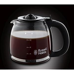 Russell Hobbs Kaffeemaschine Adventure Edelstahl, Glaskanne bis zu 10 Tassen, 1,25l, Warmhalteplatte, Abschaltautomatik, Tropf-Stopp, 1100 Watt, Filterkaffeemaschine 24010-56