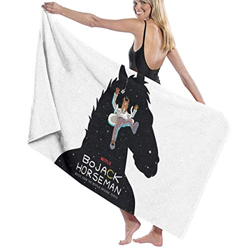asdew987 BoJack-Horseman - Toalla de playa para hotel y spa, toalla de playa grande, ultra suave, superabsorbente de agua, manta de playa multiusos de gran tamaño, 80 x 130 cm