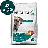 Primum | 15 kg | Halbfeuchtes Trockenfutter für Hunde | getreidefrei | Soft Rind mit Kartoffel | Extra viel Fleisch | Optimal verdaulich | Herstellung in Deutschland