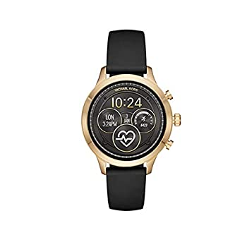Michael Kors Women s Access Gen 4 Runway Plated Touchscreen Watch with Stainless Steel Silicone Strap Black 18  Model  MKT5053