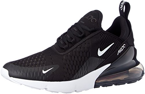 Nike Air MAX 270, Zapatillas de Gimnasia para Hombre, Negro (Black/Anthracite/White/Solar Red 002), 44 EU