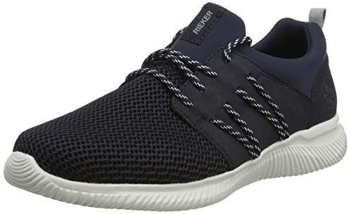 Rieker Herren Frühjahr/Sommer B7484 Sneaker, Blau (Navy/Pazifik/Navy 14), 41 EU
