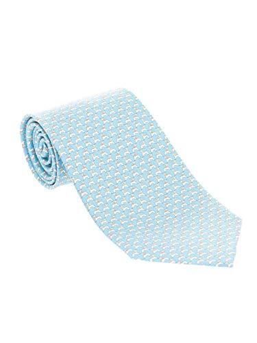 SALVATORE FERRAGAMO Luxury Fashion Herren 354000 Hellblau Seide Krawatte | Frühling Sommer 20