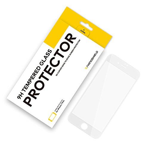 RhinoShield Protector de Pantalla Compatible con [iPhone 8 Plus/iPhone 7 Plus] | Cristal Templado 9H 3D de Bordes curvados - Protección de Pantalla Transparente y Resistente a Arañazos - Blanco