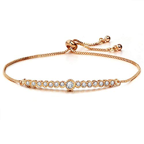 MNJLB Vrouwen Armband Crystal Ronde Tennis Armband Bedel Armband En Armband Statement Goud Sieraden