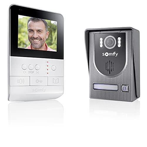 Somfy 2401330 - Visiophone V100, Interphone Vidéo écran 4 pouces | Vision Nocturne | Pour contrôler jusqu'à 5 équipements Somfy RTS