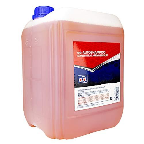 AD Chemie Autoshampoo 10L Kanister Aprikosenduft Konzentrat Shampoo Auto Autoschampoo Bürste Autopflege Auto-Shampoo Element 4725010042