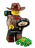 LEGO Minifigures Series 19 Jungle Explorer Minifigure with Chameleon 71025