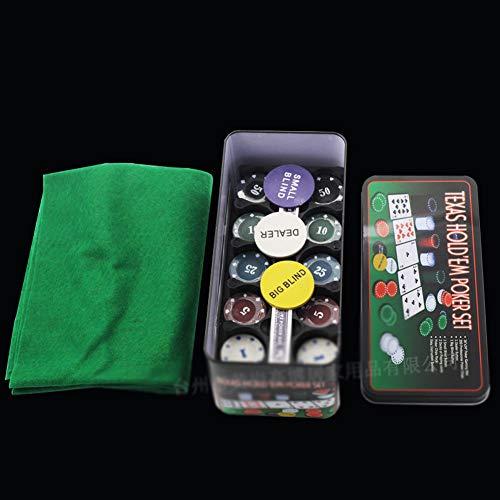 NanXi 200 Poker Chip Set of Poker Cards, Texas Holdem Blackjack Games Party Board Games Set Best Service
