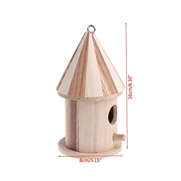 XTYaa Wooden Nesting Nest Box Bird Cage House Small Birds Blue Tit Wren