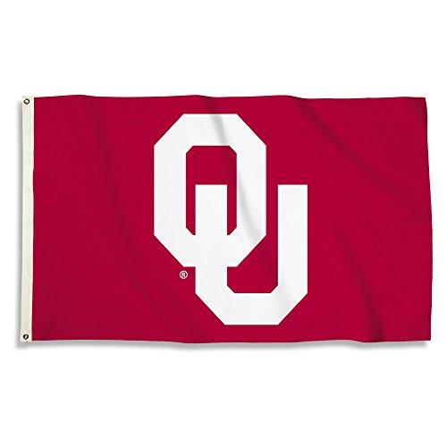 NCAA Oklahoma Sooners 3 X 5 Foot Flag with Grommets, Cardinal,