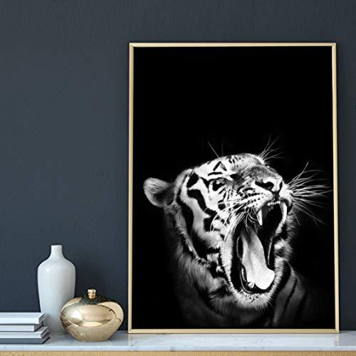 Danjiao Canvas målning väggkonst bilder Hd tryck ryr tiger djur heminredning nordisk modern affisch minimalistisk för vardagsrum modulär vardagsrumsdekor 60 x 90 cm