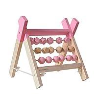 Qjbh1 教育玩具Math学習玩具は、ビーズを数える (Color : Pink)