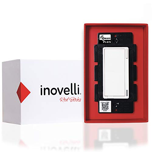Inovelli Z-Wave Switch (Red Series) | ZWave Light Switch Works with SmartThings | Energy Monitoring, Repeater, 3-Way Smart Switch Technology, LED RGB Notifications, Signal Indicator | Z-Wave Plus w/S2
